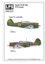 LPS Decals 1/72 CURTISS HAWK 75 Captured Luftwaffe Versions