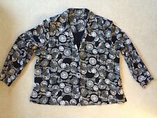 Notations Clothing Co. Woman Black & White Long Sleeve Blouse Plus size 24W
