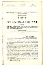 Punishments Under law Sec War 1902 5 pages
