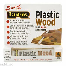 Rustins Plastic Wood Filler Tube with Free Applicator - OAK - FREE P&P