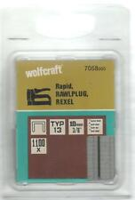 Wolfcraft Clip Type 013, Width x H:10,55 x 10 mm, Pack 1.100 Piece Boxed