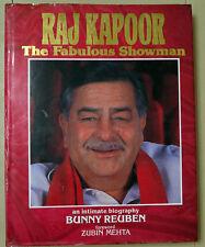 Raj Kapoor The Fabulous Showman (1988) hardcover illustrated Bunny Reuben