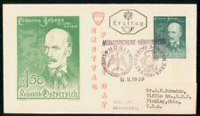 Mayfairstamps AUSTRIA FDC 1959 COVER ERZHERZOG JOHANN wwh25295