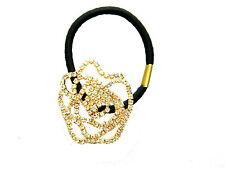 Ton Or et Blanc Strass Rose Noir Élastique Cheveux bande Accessoires HA15G