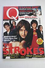 Q Magazine April 2002: Coldplay Chris Martin/Sheryl Cole/The Strokes/Cornershop