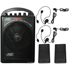 604BLL Wireless Microphone Battery Powered Portable PA System Lavalier Headset