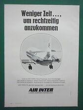 5/73 PUB COMPAGNIE AERIENNE AIR INTER AIRLINE CARAVELLE ORIGINAL GERMAN AD