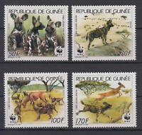 Guinea - Michel-Nr. 1194-1197 postfrisch/** (WWF Afrikanischer Wildhund)