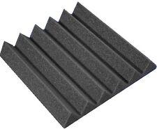 "2"" x 12"" x 12"" Charcoal Acoustic Wedge Studio Soundproof Foam Tile"