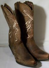 NEW WOMENS CRUSH BY DURANGO CROSSED GUNS WESTERN BOOT (DRD0099) BROWN 8 MED $150