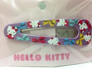 Hello Kitty Snap Hair Clips--Color Bows Design by Sanrio