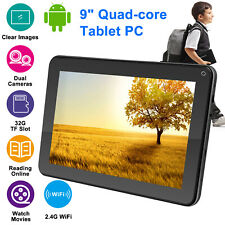 """9"""" Inch Android Quad Core 8GB Tablet PC Wifi HD Dual Camera Kids Students Tablet"""