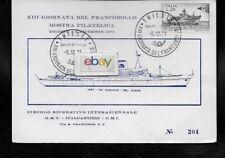 ADRIATICA LINE T/N. AUSONIA 1971 STAMP ISSUE POSTCARD TRIESTE ITALIA LIRA.25