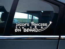 2X Daddy's Princess on board stickers Decal. Child /baby boy inside car warning