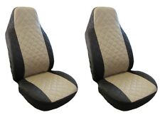 NEW Front Seat Covers Black - Beige for Jaguar F- type S-type X-type Xf Xj