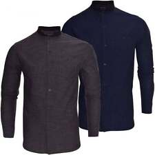 Brave Soul Grandad Patternless Casual Shirts & Tops for Men