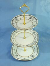 CAKE STAND. 3 TIERS COMPRISING OF MATCHING COURT VINTAGE CHINA