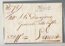1817 VENETO lettera PADOVA-VENEZIA da DIREZ.POSTE-VISITA ARCIDUCA RAINIERI-f942