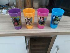 Walt disney . 4 Plastic Shrek Drinking Cups . From Disney usa