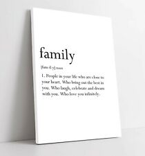 More details for family definition love slogan quote home -canvas wall art picture print