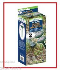 2 x SUNFORCE SOLAR Snake Pest Rodent MultiPulse Vibration Repeller Mole Garden