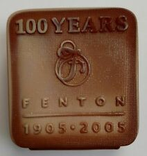 Fenton Chocolate Glass Logo 100th Anniversary Limited Edition 2005 34/300 Signed