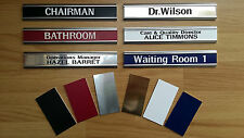 *Professionally engraved office/workplace door signs & holders