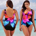 Hot Summer Womens floral One Piece Swimsuit Push Up Bikini Swimwear Beachwear