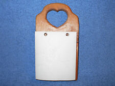 HOMCO HOME INTERIOR WOODEN WALL HANGING MEMO PAD HOLDER W/ FANCY MEMO PAPER PAD