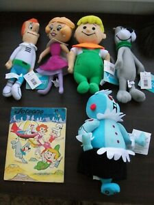 The Jetsons Plush x5 George, Jane, Elroy, Astro, Rosie the Robot NWT + book