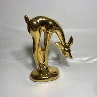 MCM 22k Gold Plated Deer Doe Figurine Vtg