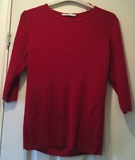 Size 16 Red Thin Knit Long Sleeve Jumper Open Back By George UGC