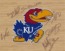 Kansas Jayhawks signed 2017-2018 Team Photograph RARE COA LOOK!!
