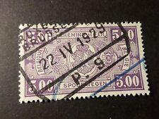 BELGIQUE 1923-31, timbre COLIS POSTAUX 157, TRAINS, oblitéré, PARCEL POST STAMP