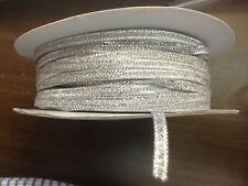 mercerie ruban galons  argent 3 mm  vendu par 5 m   // .1 .20  euros