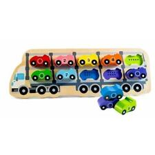 NEW Kiddie Connect Wooden 1-10 Car Puzzle - Numerical Number Puzzle