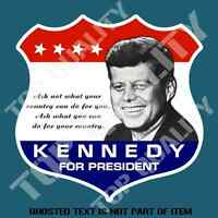VINTAGE KENNEDY FOR PRESIDENT Decal Sticker Retro Americana Hot Rod Rat Stickers