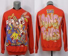 VTG The Looney Tunes Sweatshirt 90's 1994 Bugs Bunny Taz Tweety Hip Hop Rap M
