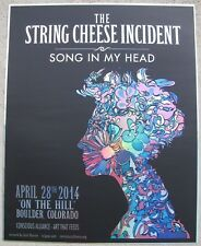 """STRING CHEESE INCIDENT """"On The Hill"""" Boulder, Colorado 2014 Foil Concert Poster"""