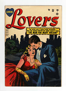 LOVERS #39 -  RARE GOLDEN AGE ATLAS - GREAT COVER - GGA -1952 - NICE