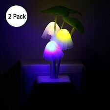 Sensor Night Light Mushroom LED Lamp US Plug Romantic Colorful Home Decor