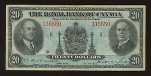 Royal Bank of Canada $20, 1935 - CH 630-18-06a. Large Signatures