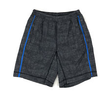 """Lululemon Mens Pace Breaker Shorts 9"""" Size Small Gray Blue With Liner"""