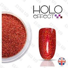 RED HOLO MERMAID EFFECT NAIL ART POWDER  GEL & ACRYLIC Holographic Cherry 22
