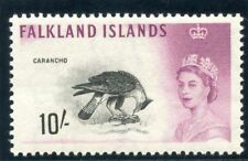 Falkland Islands 1960 QEII 10s black & purple MLH. SG 206.