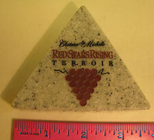 VINTAGE WINERY PAPERWEIGHT TRIANGULAR CHATEAU STE MICHELLE MARBLE PAPERWEIGHT