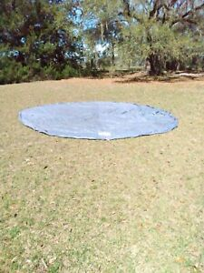 Round Large Plastic Pull String Pool Cover Size 16ft x 20.9 (Not Exact Size)
