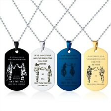 Personalized Engraving Men Necklace Pendant Brother Dog Tag Lucky Halloween Gift