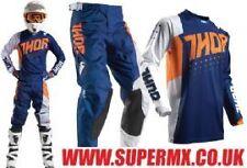 2017 Thor Pulse Aktiv Kids Youth Motocross Kit Combo - Orange/Navy 28/XL