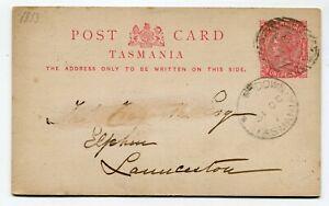 Tasmania Postcard North Down to Launceston 31.10.1887